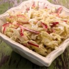 Italian Cabbage Salad - Thinly sliced green cabbage and red onion with fresh homemade Italian dressing.