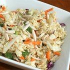 Lawn Mower Salad - A favorite and easy summer salad combines ramen noodles with broccoli slaw, cashews, and sunflower seeds for an Asian-inspired light supper or lunch.