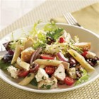 Mediterranean Turkey Pasta Salad - A great use for leftover turkey any time of the year. Combine turkey with cooked pasta, olives, tomatoes and feta cheese. Then toss in an easy-to-make dressing. Serve chilled or at room temperature.