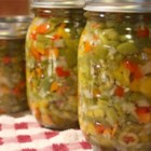 Hot Italian Giardiniera - A hot and tangy, pickled pepper and jalapeno topping for Italian beef sandwiches, sausages, French dips, pastas, pizzas, and more.