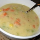 Ian's Potato-Vegetable Soup - Start with potatoes, carrots, onions, and celery, and then you decide what other vegetables go in to the pot.  Cream of celery soup and parsley are added once the vegetables are tender.