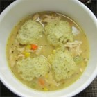 Chicken Stew with Dumplings - This comforting chicken stew is easy to make with store bought rotisserie chicken. The stew is then topped with quick and easy dumplings flavored with dill.