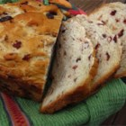 Cranberry Orange Bread (For Bread Machine) - This yeast bread is sweetened with honey, dried cranberries, and orange oil.