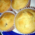 Berry-Blue Corn Muffins - Moist and tender corn muffins sweet with blueberries. My daughter Melissa's favorite! We serve them warm with butter.