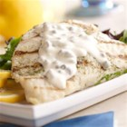 Grilled Mahi Mahi with Lemon Caper Sauce - Capers, lemon, and lime bring their bright flavors to these grilled mahi mahi fillets.