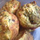Savory Zucchini Chard Muffins - A flavorful savory muffin of chard, zucchini, and bacon is baked for a perfect golden crust. Serve as a main dish with a salad or as a side dish at brunch.