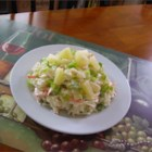 Pineapple Slaw - Add pineapple to your summer slaw to give a bit of sweetness to the creamy mixture of cabbage, onion, and bell pepper.