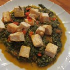 Palak Paneer (Indian Spinach and Paneer) - Cubes of paneer simmer in a smooth spinach puree, fragrant with cumin seeds, ground coriander, ground turmeric, and curry powder.