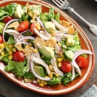 Chipotle Chicken Taco Salad - Try this twist on a taco salad using chipotles in adobo. It is a fabulous salad which will definitely get added to your family dinner rotation.