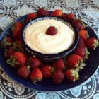 Andre's Easy Fruit Dip - Dip your favorite fruit in this quick and easy fruit dip with a hint of vanilla.