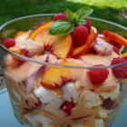 Fresh Peach Trifle - Celebrate the heavenly taste of fresh summer peaches in this adaptation of a traditional trifle. An easy, fabulous dessert.
