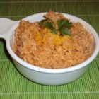 Del Rio's Mexican Rice - Rice is toasted and then simmered with tomatoes, roasted jalapeno pepper, and onion for a quick and easy Mexican rice.