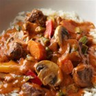 Bison Red Curry - A delightful Asian-style red coconut curry gets extra-rich flavor from bite-size pieces of bison sirloin steak and plenty of colorful vegetables and fresh basil.