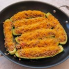 Egg Stuffed Zucchini - Zucchini stuffed with eggs, walnuts, and tomatoes is a quick and easy meal that will quickly become a family favorite.