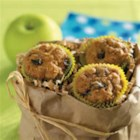 Miniature Apple Muffins - Just the right amount of spice and a sprinkling of raisins give these bite-size muffins the robust flavor of an old-fashioned apple cake.