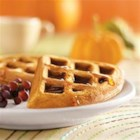 Pumpkin Waffles - Nothing beats the smell of freshly baked waffles on a cold wintery day.