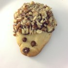 Hedgehog Cookies - Hedgehog cookies are decorated with melted chocolate and chopped pecans for the 'fur' for a fun treat the kids will love helping create.