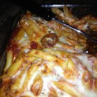 Mom's Irish Ziti - This pasta dish combines lamb with sweet Italian sausage and cheese in tomato sauce.