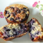 Blueberry Oatmeal Chia Seed Muffins - Blueberry oatmeal muffins flecked with chia seeds are perfect for lunch boxes or served at a weekend brunch.