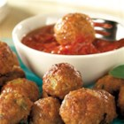 Pork Sausage Meatballs from Hatfield(R) - This recipe for sausage meatballs with Parmesan cheese makes a lot! You can serve a big crowd or freeze some for later use.