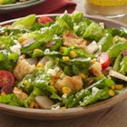 Club Sandwich Salad with Corn and Feta - The flavors of a club sandwich, including bacon, corn, and feta cheese, are captured in this colorful and tasty salad.