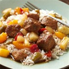 Slow Cooker Sweet and Sour Pork - Come home to an Asian-inspired slow-cooked dinner of sweet and sour pork made in the slow cooker. Just make a pot of rice and dinner is ready.