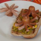 Octodogs - Hot dogs are transformed into 'octodogs' when you cut 8 little legs into the hot dogs. Serve on a bun, with toothpicks, or however you like!