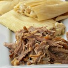 Pork for Tamales - Pork cooked in a fragrant and flavorful onion and spice broth makes a  perfect filling for your tamales.