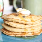 Oatmeal Pancakes II - I make this for my kids quite often.  It is very simple.  Preparing the batter in the food processor makes it that much easier. Serve with syrup and butter.  Also good with applesauce!