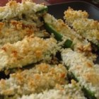 Blue Cheese Jalapeno Poppers - Panko breadcrumbs coat these blue cheese-stuffed jalapenos before being baked for a savory and spicy treat.
