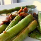 Stovetop Green Beans - This mixture of green beans, onions, bacon, and cheese is a perfect substitution for the traditional green bean casserole.