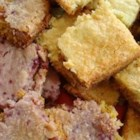 Cream Cheese Bars I - This cookie has a chewy bottom crust with a sweet cream cheese  layer on top.  I like this best with a yellow or lemon cake mix.