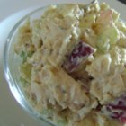 Chicken Salad with Grapes and Apples - This chicken salad recipe includes grapes, apples, and red onion creating a fruity and savory sandwich filling.