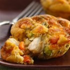 Impossibly Easy Mini Chicken Pot Pies - Enjoy this chicken pot pie filled with peas and carrots – a delightful dinner made using Original Bisquick(R) mix.