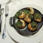 Escargot Mushrooms - Snails are sauteed in garlic butter and stuffed in mushroom caps. When microwaving the mushroom caps,  be careful they don't shrivel. Serve with garlic bread to lap up the running juices.