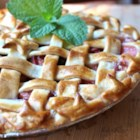 Strawberry Raisin Rhubarb Pie - Raisins add sweetness and texture to a classic strawberry-rhubarb pie with a pretty lattice crust.