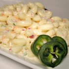 Kim's Macaroni Salad - This is a simple but tasty macaroni salad made with zesty white pepper, jalapeno, and green onions.