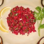 Beet and Carrot Lentil Salad - Shredded beets and carrots are mixed with lentils, cilantro, and lemon juice for a refreshing and crowd-pleasing salad.