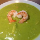 Avocado Shrimp Bisque - Chopped shrimp and avocado are cooked in chicken broth with milk, onion and lemon juice in this soup that can be served warm or cold.