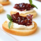 Fig and Onion Spread - Figs are simmered with caramelized onion and balsamic vinegar creating a sweet and savory spread perfect as a cracker or baguette topper. Serve with a little blue cheese for something extra.