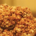 Caramel Popcorn Clusters - Two favorites--gooey caramel and freshly popped popcorn come together to make this fun treat.