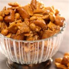 Crunchy Caramel Snack Mix - This snack recipe is perfect for any occasion whether it's the big game or a birthday celebration.