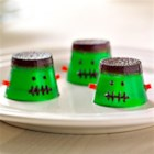 MMMMonster JIGGLERS - These Halloween 'monsters' are fun bite-sized party treats and, if made with tonic water, they glow in the dark under a black light!