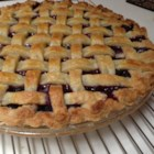 Mystery Ingredient Wild Blueberry Pie - Almond extract is the secret ingredient to this traditional blueberry pie. Serve with whipped cream or your favorite ice cream.