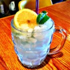 Lemon Mint Cooler - A vodka spiked slushy lemonade drink to cool you off in the summer.