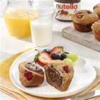 Breakfast Muffins topped with NUTELLA(R) - A delicious breakfast on-the-go that you can prepare ahead of time!