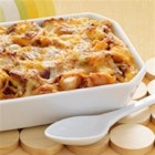 Cheesy Bacon Egg Brunch Casserole - This one-dish brunch casserole is ideal for a crowd. Add a fruit salad and you can sit back and enjoy your company.