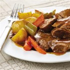 Slow Cookers Savory Pot Roast - Savory aromas entice you as this easy meal-in-one gently simmers in the slow cooker. Choose a boneless chuck roast for the richest taste or a rump roast if you prefer lower fat.