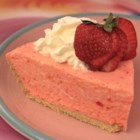 No Bake Strawberry Cheesecake - This easy, light, and fluffy no-bake cheesecake has a delightful strawberry surprise!