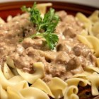 Cream Cheese Steak Stroganoff - Transform leftover steak into a hearty steak stroganoff using a cream cheese-based mushroom sauce served over farfalle pasta as a comforting weeknight dinner.